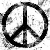 Drapeau de fumée de signe de paix sur un fond blanc Image libre de droits