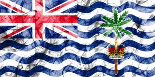 Drapeau de fumée de territoire d'Océan Indien britannique, Terr d'outre-mer britannique illustration stock