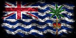 Drapeau de fumée de territoire d'Océan Indien britannique, Terr d'outre-mer britannique illustration libre de droits