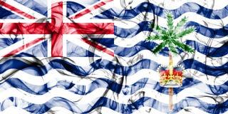 Drapeau de fumée de territoire d'Océan Indien britannique, territoires d'outre-mer britanniques, drapeau de territoire non autono photo libre de droits