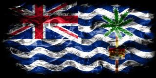 Drapeau de fumée de territoire d'Océan Indien britannique, territoires d'outre-mer britanniques, drapeau de territoire non autono illustration libre de droits