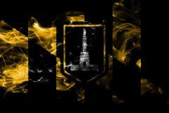 Drapeau de fumée de ville de Baltimore, état du Maryland, Etats-Unis d'Amer illustration libre de droits