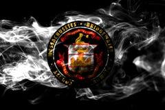 Drapeau de fumée de ville de Bridgewater, état du Massachusetts, Etats-Unis illustration stock