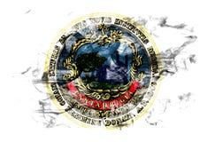 Drapeau de fumée de ville de Cambridge, état du Massachusetts, Etats-Unis de Images libres de droits