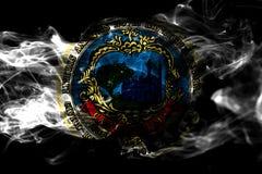 Drapeau de fumée de ville de Cambridge, état du Massachusetts, Etats-Unis de illustration libre de droits