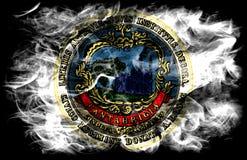 Drapeau de fumée de ville de Cambridge, état du Massachusetts, Etats-Unis d'Amérique Photos libres de droits