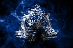 Drapeau de fumée de ville de Charleston, Carolina State du sud, Etats-Unis illustration libre de droits