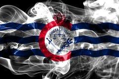Drapeau de fumée de ville de Cincinnati, état de l'Ohio, Etats-Unis d'Amérique illustration libre de droits