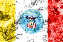 Drapeau de fumée de ville de Columbus, état de l'Ohio, Etats-Unis d'Amérique images libres de droits