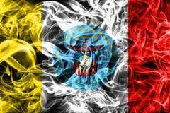 Drapeau de fumée de ville de Columbus, état de l'Ohio, Etats-Unis d'Amérique illustration stock