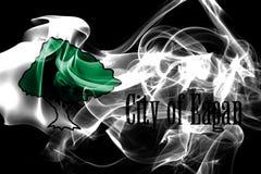 Drapeau de fumée de ville d'Eagan, état du Minnesota, Etats-Unis d'Amérique illustration libre de droits