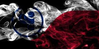 Drapeau de fumée de ville d'Irving, Texas State, Etats-Unis d'Amérique Images libres de droits