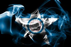 Drapeau de fumée de ville de Houston, Texas State, Etats-Unis d'Amérique illustration libre de droits