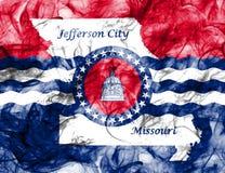 Drapeau de fumée de ville de Jefferson City, état du Missouri, Etats-Unis de Photo stock