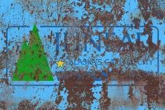 Drapeau de fumée de ville de Juneau, état de l'Alaska, Etats-Unis d'Amérique image stock