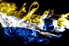 Drapeau de fumée de ville de San Luis Obispo, état de la Californie, Etats-Unis photos stock