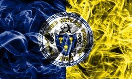 Drapeau de fumée de ville de Trenton, état de New Jersey, Etats-Unis d'Amer illustration libre de droits