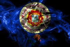 Drapeau de fum?e de ville de Lancaster, ?tat de la Pennsylvanie, Etats-Unis d'Am?rique illustration libre de droits