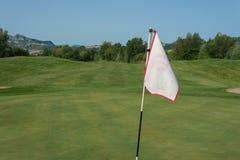 Drapeau de golf Photographie stock