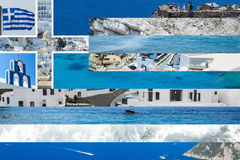 Drapeau de Grec de Collaged Photos stock