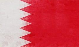 Drapeau de grunge du Bahrain Photos stock