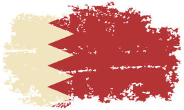 Drapeau de grunge du Bahrain Illustration de vecteur Photos stock