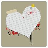 Drapeau de Grungey Valentine Images libres de droits