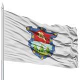 Drapeau de Guatemala City sur le mât de drapeau Photographie stock libre de droits