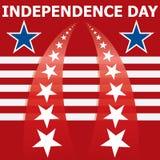Drapeau de Jour de la Déclaration d'Indépendance Images stock
