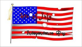 Drapeau de Jour de la Déclaration d'Indépendance Photographie stock