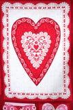 Drapeau de jour de Valentine. Photographie stock