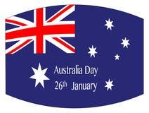 Drapeau de jour de l'Australie illustration libre de droits