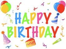 Drapeau de joyeux anniversaire Images libres de droits
