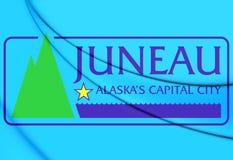 Drapeau de Juneau, Alaska Image libre de droits