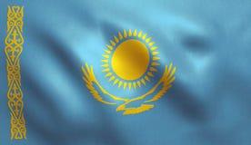 Drapeau de Kazakhstan Photographie stock