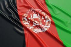 Drapeau de l'Afghanistan Photographie stock libre de droits