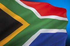 Drapeau de l'Afrique du Sud Photographie stock