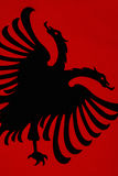 Drapeau de l'Albanie Photo stock