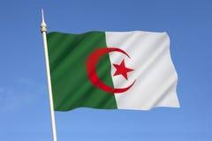 Drapeau de l'Algérie - Afrique du Nord Image stock
