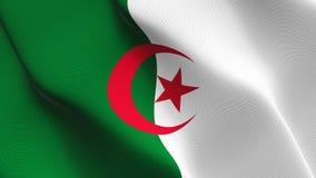 Drapeau de l'Algérie ondulant sur le vent illustration libre de droits