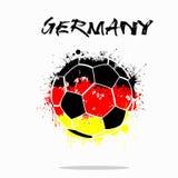 Drapeau de l'Allemagne comme ballon de football abstrait Image stock