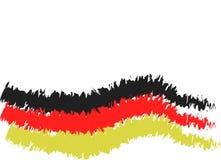 Drapeau de l'Allemagne dans la version de crayon de carbone illustration de vecteur