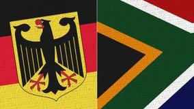 Drapeau de l'Allemagne et de l'Afrique du Sud - texture de tissu illustration de vecteur