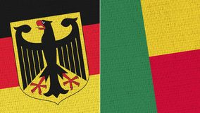 Drapeau de l'Allemagne et du Bénin illustration libre de droits