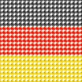 Drapeau de l'Allemagne faite de LED. Photo libre de droits