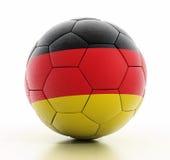 Drapeau de l'Allemagne sur le football photographie stock
