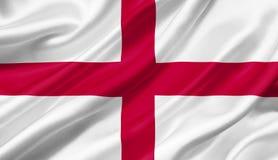 Drapeau de l'Angleterre ondulant avec le vent, illustration 3D illustration stock