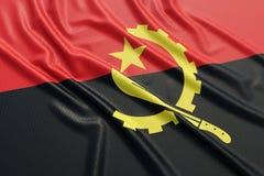 Drapeau de l'Angola Photographie stock