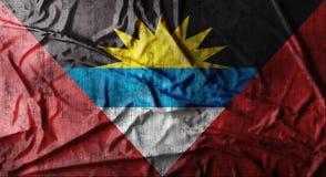 Drapeau de l'Antigua-et-Barbuda chiffonné par grunge rendu 3d Photographie stock