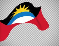 Drapeau de l'Antigua-et-Barbuda sur transparent Images stock